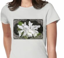 Elegant Orchids ~ Cluster of Three Womens Fitted T-Shirt