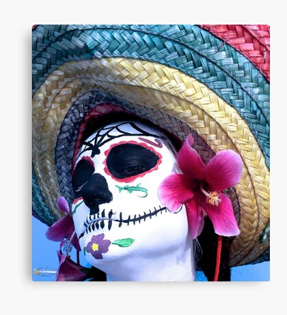 Day of the dead person  Canvas Print