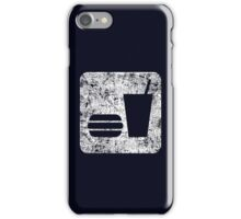 Burger and Drink - White iPhone Case/Skin