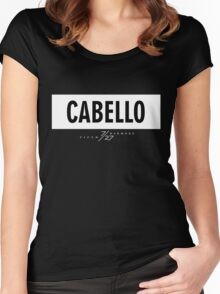Cabello 7/27 - White Women's Fitted Scoop T-Shirt