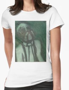Clouded Womens Fitted T-Shirt
