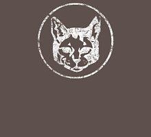 Cat Head in a Cirlce - White Unisex T-Shirt