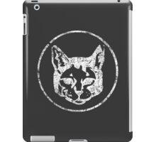 Cat Head in a Cirlce - White iPad Case/Skin