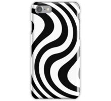 Black and white abstract striped Optical Art iPhone Case/Skin