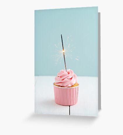 Cupcake with sparkler Greeting Card