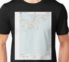 USGS TOPO Map Rhode Island RI Newport 20120606 TM Unisex T-Shirt