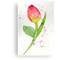 Blooming Tulip - Watercolor Painting Canvas Print