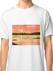 Orange Sunset - Watercolor Painting Classic T-Shirt