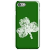 Four Leaf Clover - White iPhone Case/Skin