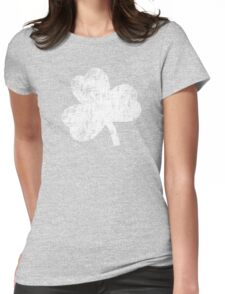 Four Leaf Clover - White Womens Fitted T-Shirt