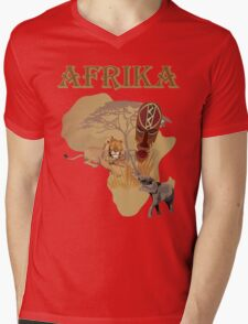 africa Mens V-Neck T-Shirt