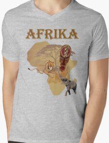 africa Mens V-Neck T-Shirt