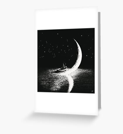 Arrival At Moonlight Greeting Card
