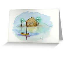 Quiet - Watercolor Painting Greeting Card