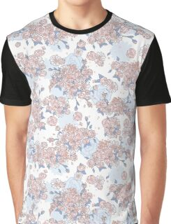 Serenity and Rose Quartz Floral Graphic T-Shirt
