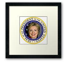 Hillary Clinton's Presidential Seal Framed Print