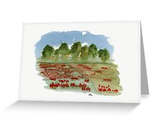 Spring - Watercolor Painting Greeting Card