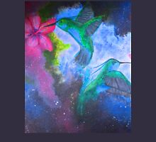 hummingbirds in space Unisex T-Shirt