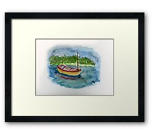 Solitude - Watercolor Painting Framed Print
