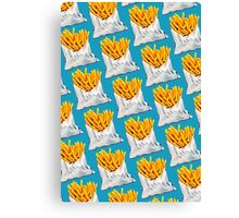 French Fries Pattern Canvas Print