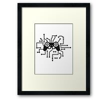 controller gamble gamer playing fun console circuitry electrical electronic lines Framed Print