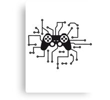 controller gamble gamer playing fun console circuitry electrical electronic lines Canvas Print