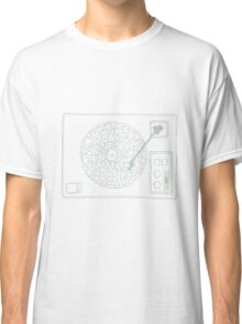 Record Player Drawing Classic T-Shirt
