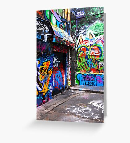 Hosier Lane Graffiti 3 Greeting Card