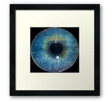 Eyeball - Blue & Green Framed Print