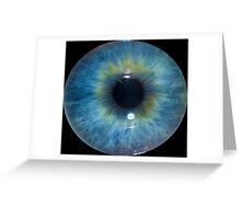 Eyeball - Blue & Green Greeting Card
