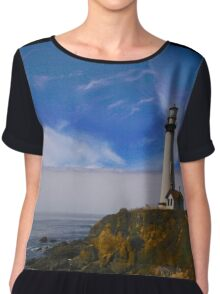 Lighthouse at Pigeon Point Chiffon Top