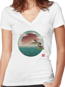 Three Of Seven Women's Fitted V-Neck T-Shirt
