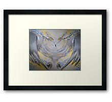 owl on the hunt Framed Print