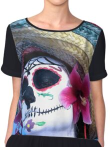 Day of the dead person  Chiffon Top