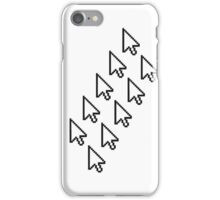 computer mouse pointer pc work show hand fingers dart click Control surf electronically online pattern design arrows iPhone Case/Skin