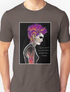 Colorful Mohawk Portrait Unisex T-Shirt