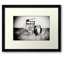 Clapperboard & Film Framed Print