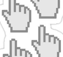 computer mouse pointer pc work show hand fingers dart click Control surf electronically online pattern design Sticker