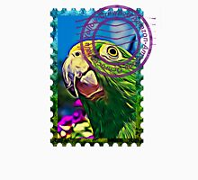 Yellow-crowned amazon PSYCHEDELIC POSTAGE STAMP Womens Fitted T-Shirt