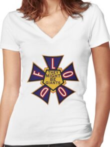 Flood by They Might Be Giants Women's Fitted V-Neck T-Shirt