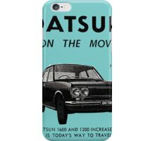 Datsun on the Move 1600 P510 iPhone Case/Skin