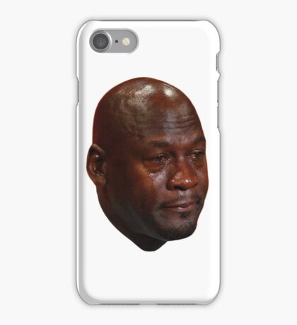 Crying Michael Jordan  iPhone Case/Skin