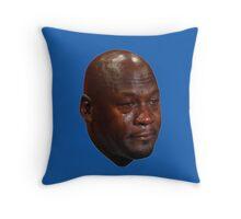 Crying Michael Jordan  Throw Pillow