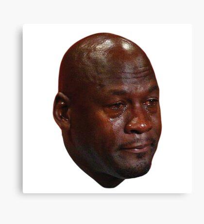 Crying Michael Jordan  Canvas Print