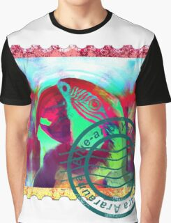 MACAW PSYCHEDELIC POSTAGE STAMP Graphic T-Shirt