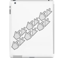 computer mouse pointer pc work show hand fingers dart click Control surf electronically online pattern iPad Case/Skin