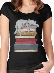 How to Chill Like a Cat Women's Fitted Scoop T-Shirt