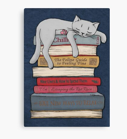 How to Chill Like a Cat Canvas Print