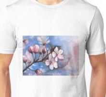 Cherry Blossoms Watercolor Unisex T-Shirt