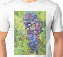 Grapes Watercolor Painting Unisex T-Shirt